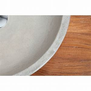 Vasque ronde en beton cire pour 2 robinets design kayumanis for Salle de bain design avec vasque extra plate poser