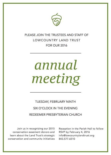 annual meeting invitation templates