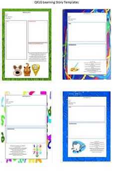 qklg eylf learning story templates tpt