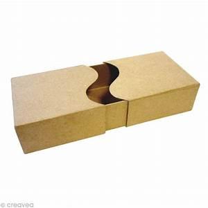Boite En Carton À Décorer : bo te rectangle 2 parties en carton 21 cm boite en carton d corer creavea ~ Melissatoandfro.com Idées de Décoration