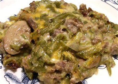 green bean  hamburger casserole  carb recipe