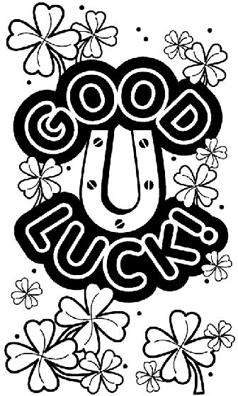 Good Luck Coloring Pages Learny Kids