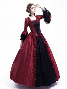 Black And Red Marie Antoinette Gothic Victorian Ball Gown