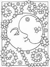 Moon Coloring Printable Pretty sketch template