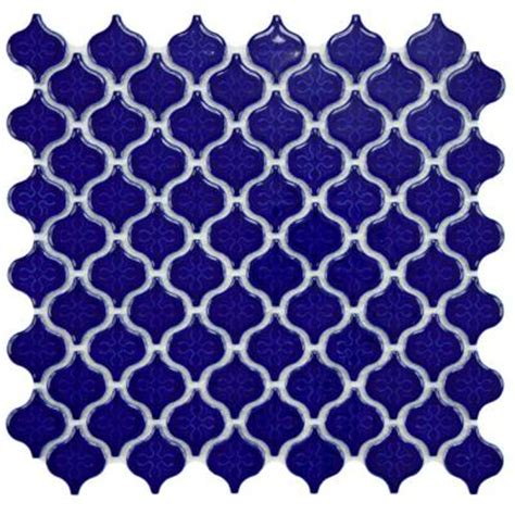 Home Depot Merola Lantern Ceramic Tile by Merola Tile Lantern Mini Glossy Cobalt 10 3 4 In X 11 1 4