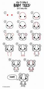 How to draw a Baby Tiger. Easy drawing, step by step ...