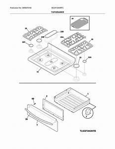 Frigidaire Model Bggf3045rfc Free Standing  Gas Genuine Parts