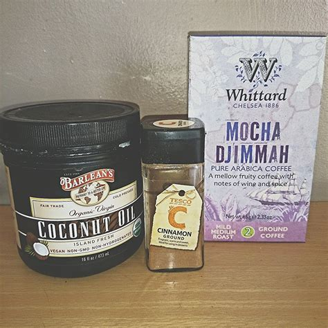 The caffeine in the coffee grounds is also said to reduce redness. The Coffee-Cinnamon Magic Face Mask   Coffee face mask, Face mask ingredients, Coconut oil for face