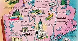 Fun map of the state of Maine! We are located in Madison ...