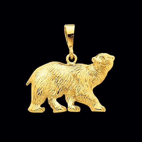 gold polar bear pendant