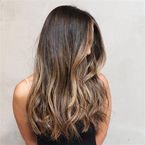 balayage clip  hair extensions medium brown  dark