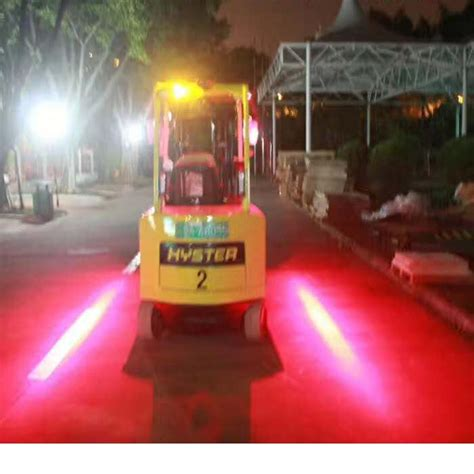 red zone safety light xrll forklift laser led warning light keep out red zone