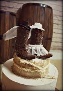 country themed wedding cakes cowboy boots wedding cake topper western by morganthecreator