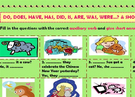 auxiliary verbs gap filling