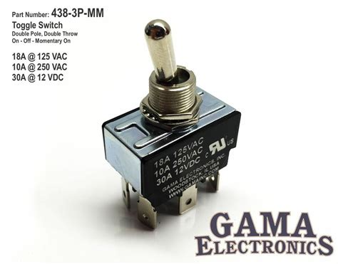 Dpdt Position Off Momentary Toggle Switch
