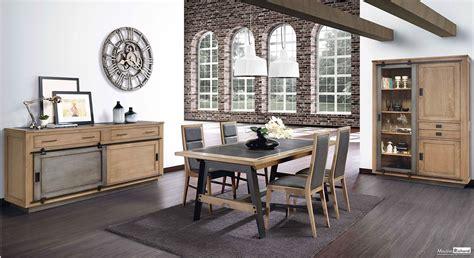 canape et meridienne salle à manger bois métal style industriel