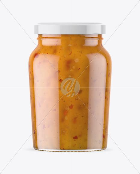 The cap is available in glossy and metallic finishes. Clear Glass Jar with Sweet & Sour Sauce Mockup in Jar ...
