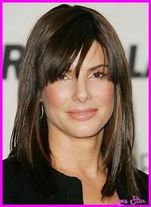 Haircuts For Medium Straight Hair With Bangs