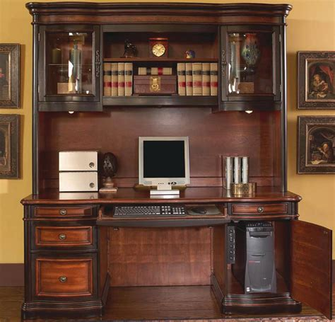 Furniture Desk And Hutch by Large Executive Home Office Computer Credenza And Hutch In