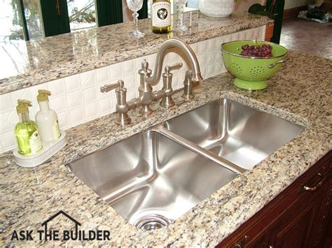 kitchen sink backs up into other side undermount kitchen sinks ask the builder