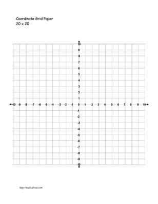 Graphing Coordinate Plane 20x20  New Calendar Template Site