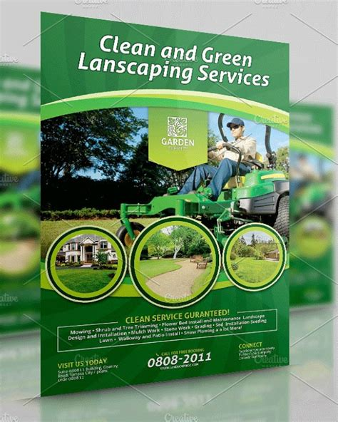 lawn landscaping flyer templates psd ai word