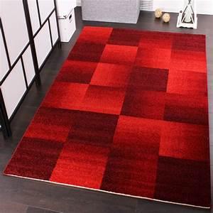 Teppich Rot Grau : velours kurzflor teppich winchester modernes karo muster in rot wohn und schlafbereich ~ Whattoseeinmadrid.com Haus und Dekorationen
