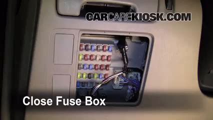2005 Toyotum Camry Xle Fuse Box Diagram by Interior Fuse Box Location 2002 2006 Toyota Camry 2005