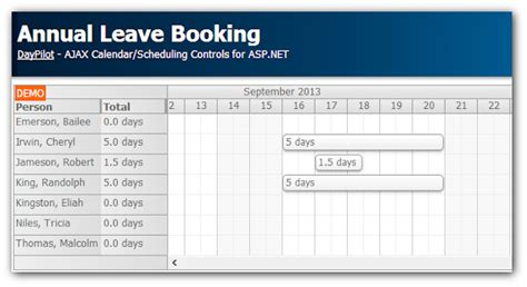 room planner html5 annual leave booking tutorial asp net c vb sql server
