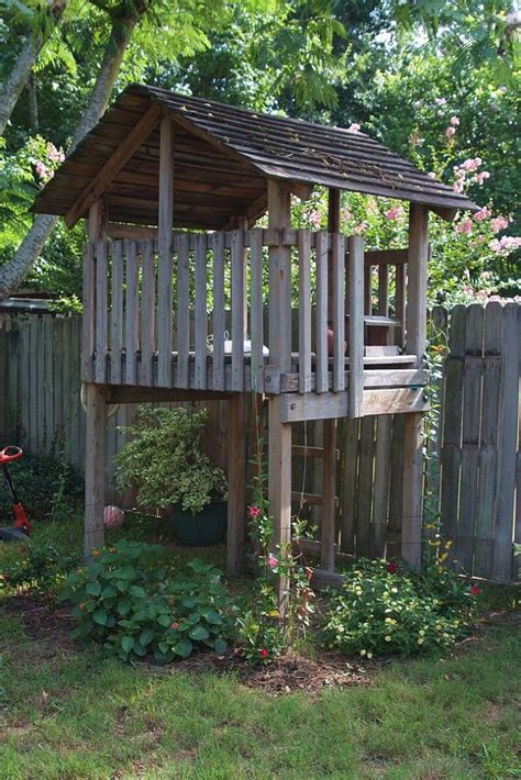 repurposing  playset backyard playset playhouse