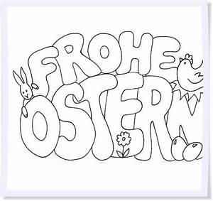 Frohe Ostern Schriftzug Zum Ausmalen Ausmalbilder Von