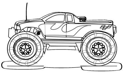 monster truck coloring pages    print