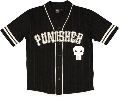 Kaos Punisher 5 punisher castle baseball jersey