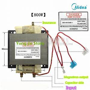 Genuine 800w Transformer Microwave Md 801emr 1 Can Replace
