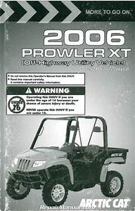 2006 Arctic Cat Prowler Xt Side By Side Owners Manual