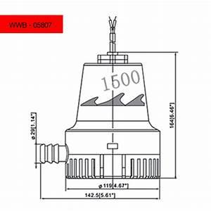 1500 Gph Bilge Pump - 12v - Dc - 1 In