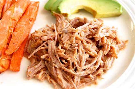 shredded pork crock pot paleo crock pot pulled pork paleo grubs