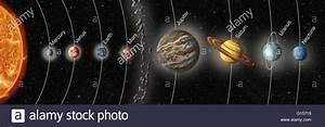 Artwork of Earth's solar system, showing the eight planets ...