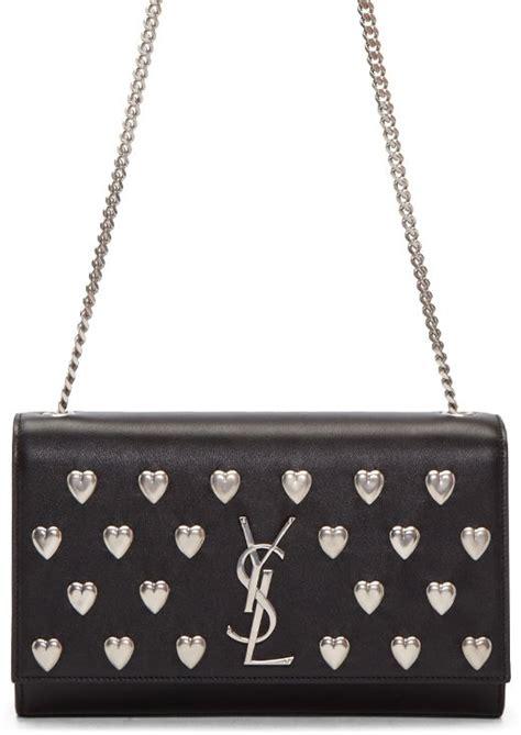 saint laurent heart studded monogram kate chain bag bragmybag