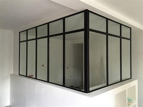 cuisine noir blanc verrière d intérieur miraluver pau