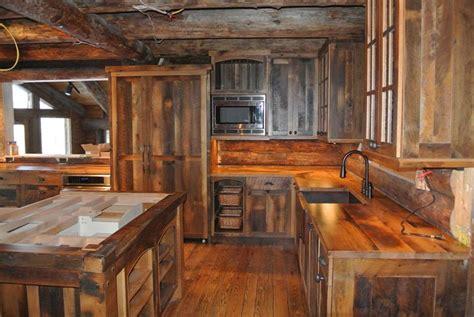 Custom Rustic Kitchen Cabinets