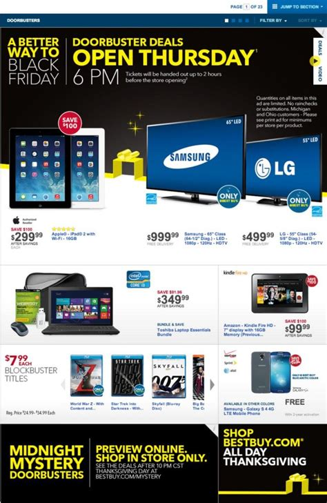 Best Buy 2014 Black Friday Ad  Gizmo Cheapo  Deals On