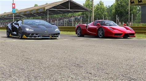 Bugatti divo is on facebook. Lamborghini Centenario vs Ferrari Enzo at Monza Road Course in 2020 | Lamborghini centenario ...