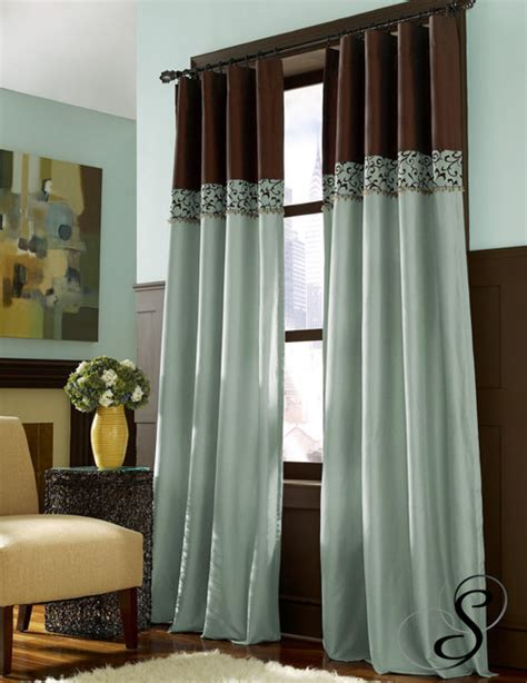 teal and brown curtains chocolate brown and teal curtains home the honoroak