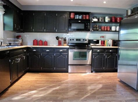 modern wall accents black painted kitchen cabinets home furniture design