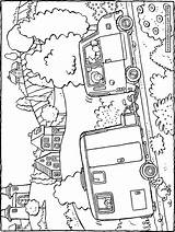 Caravan Colouring Kiddicolour Drawing Printable Getcolorings sketch template