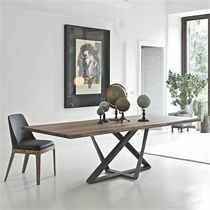 Pied De Table Metal : table design en noyer pied m tal bontempi casa sur cdc design ~ Teatrodelosmanantiales.com Idées de Décoration
