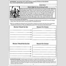 9 Best Images Of Setting Personal Boundaries Worksheets