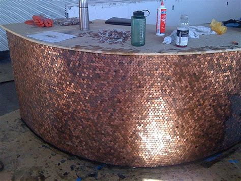 kitchen floor made out of pennies cents and sensibility how to install a copper floor 9373