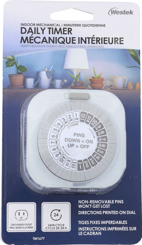 indoor mechanical big button daily timer  outlet grounded